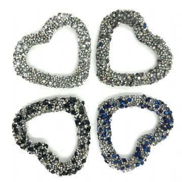 Heart shaped beaded crystal shape 28mm